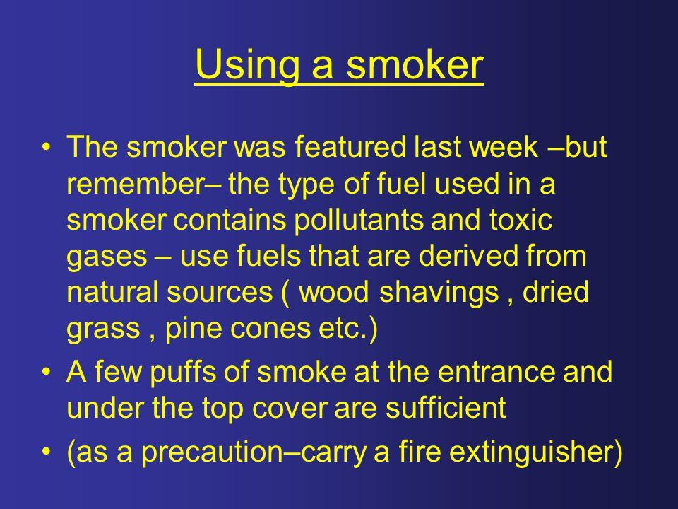 Using a smoker