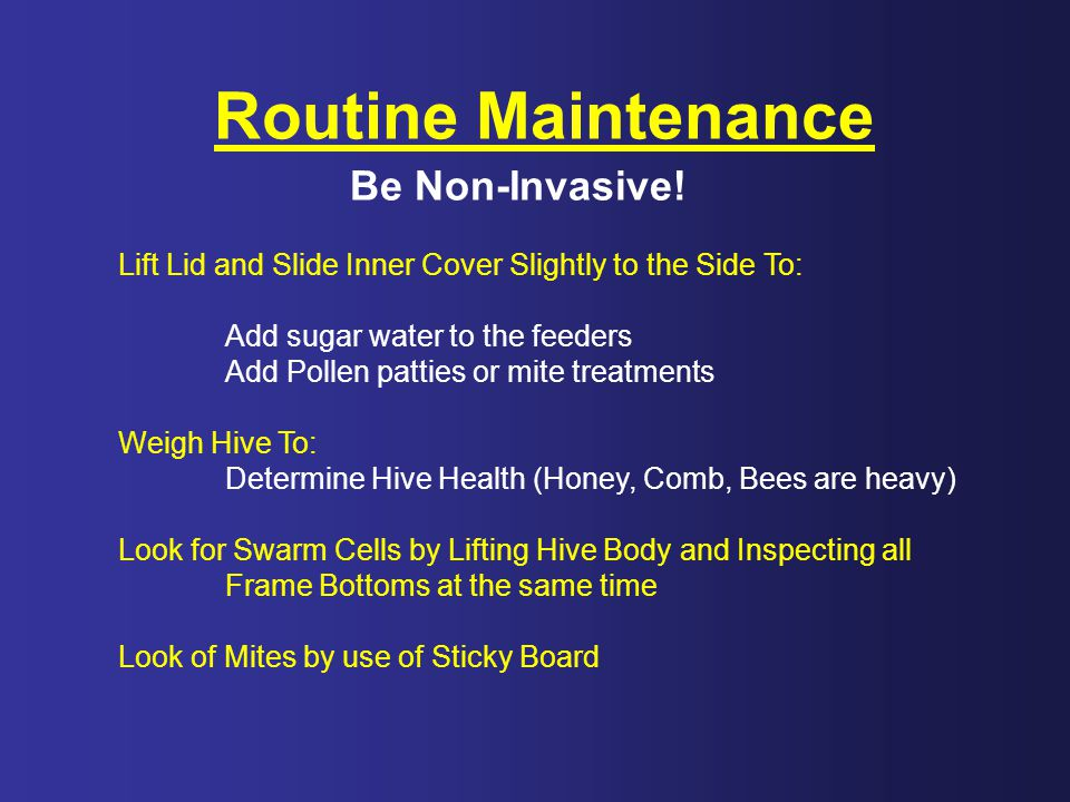 Routine Maintenance Be Non-Invasive!
