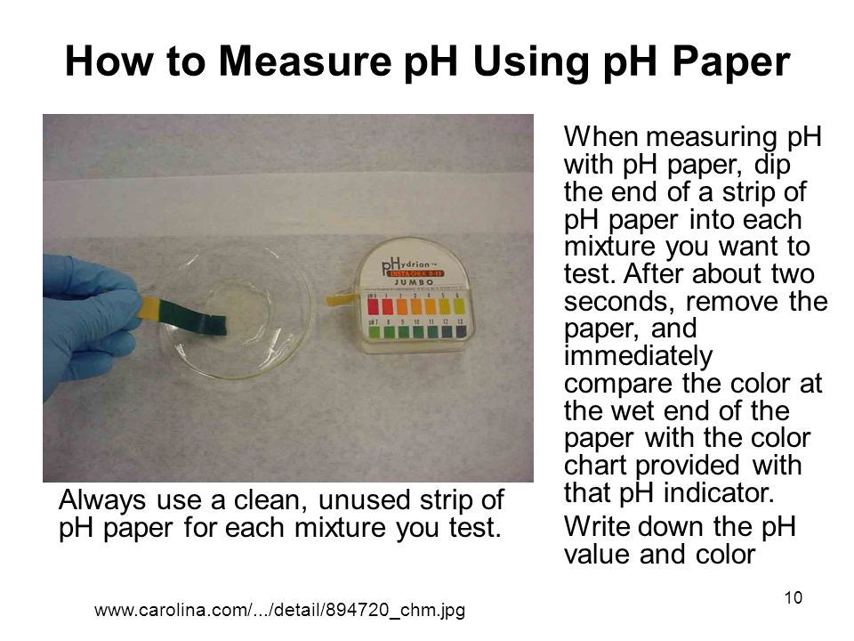 How to Measure pH Using pH Paper