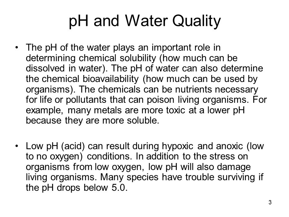 pH and Water Quality