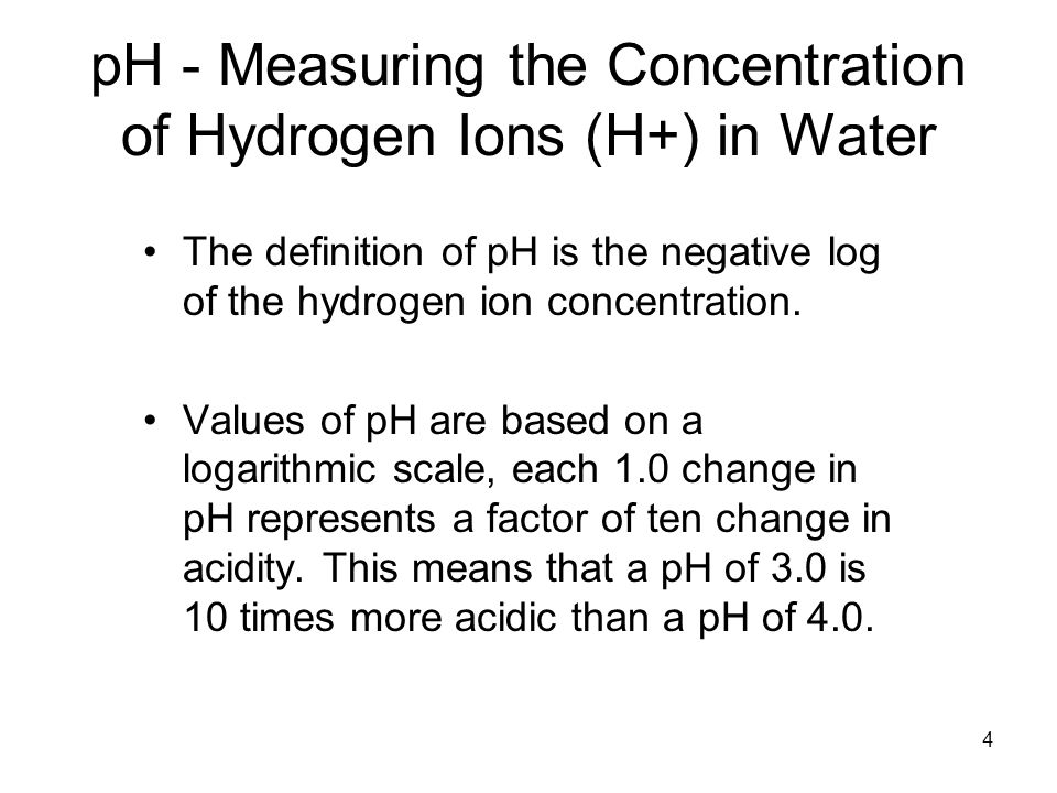 pH - Measuring the Concentration of Hydrogen Ions (H+) in Water