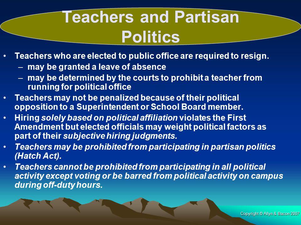 Teachers and Partisan Politics