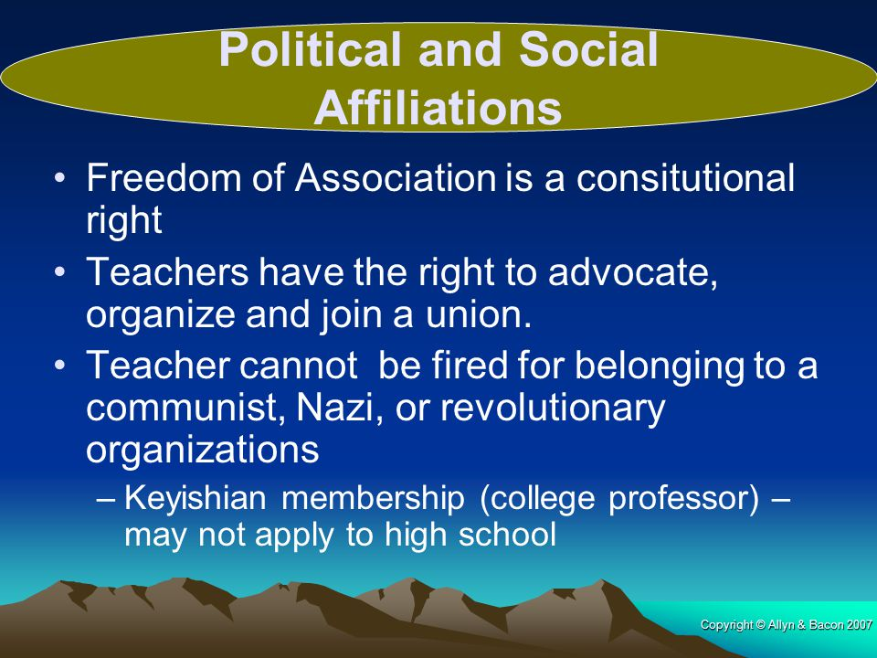 Political and Social Affiliations