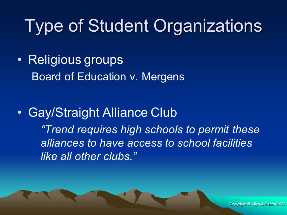 Type of Student Organizations