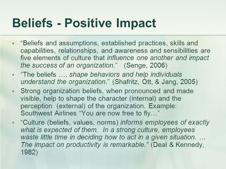 Beliefs - Positive Impact