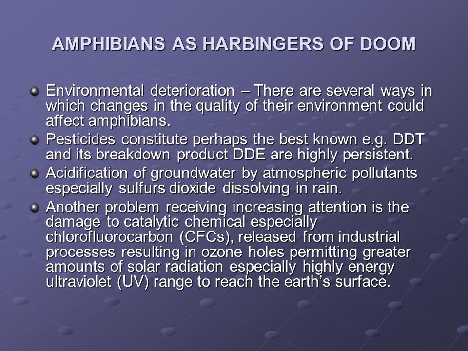 AMPHIBIANS AS HARBINGERS OF DOOM