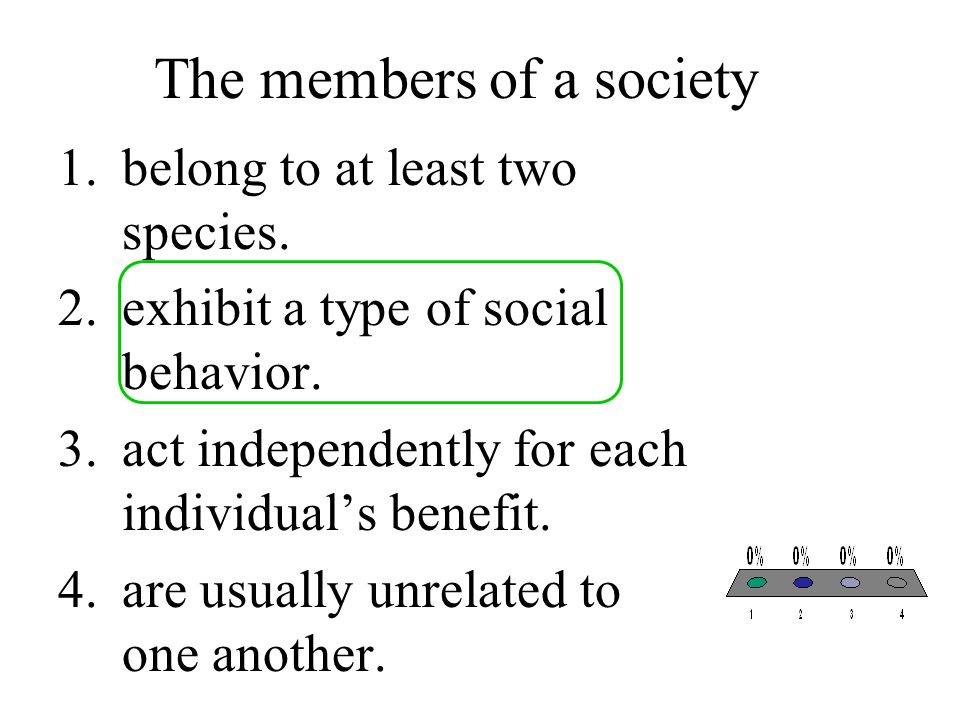 The members of a society