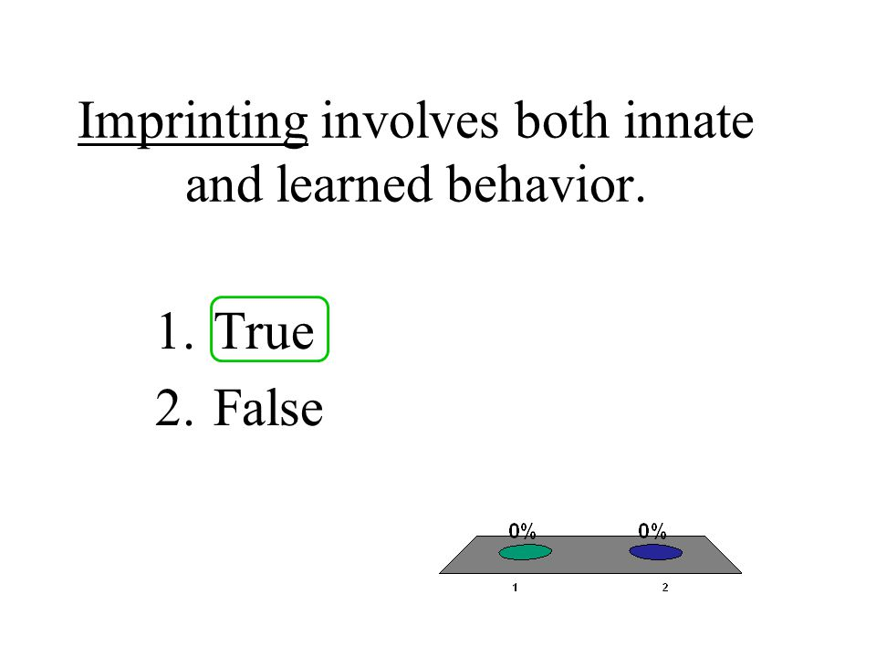 Imprinting involves both innate and learned behavior.