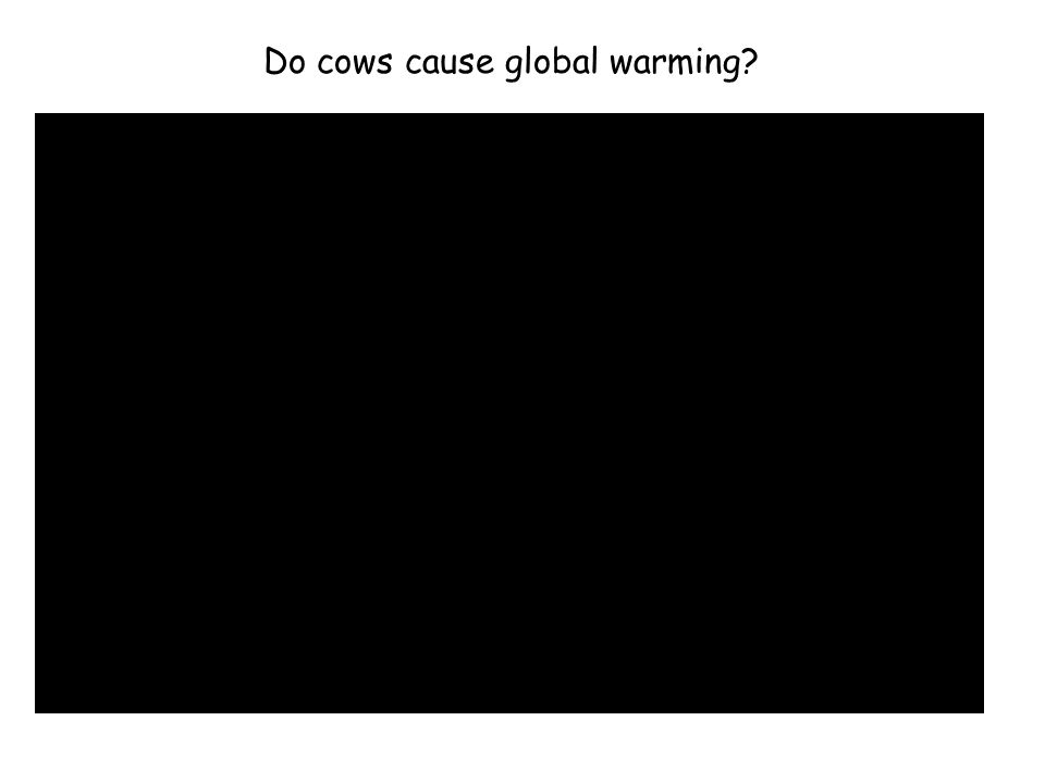 Do cows cause global warming