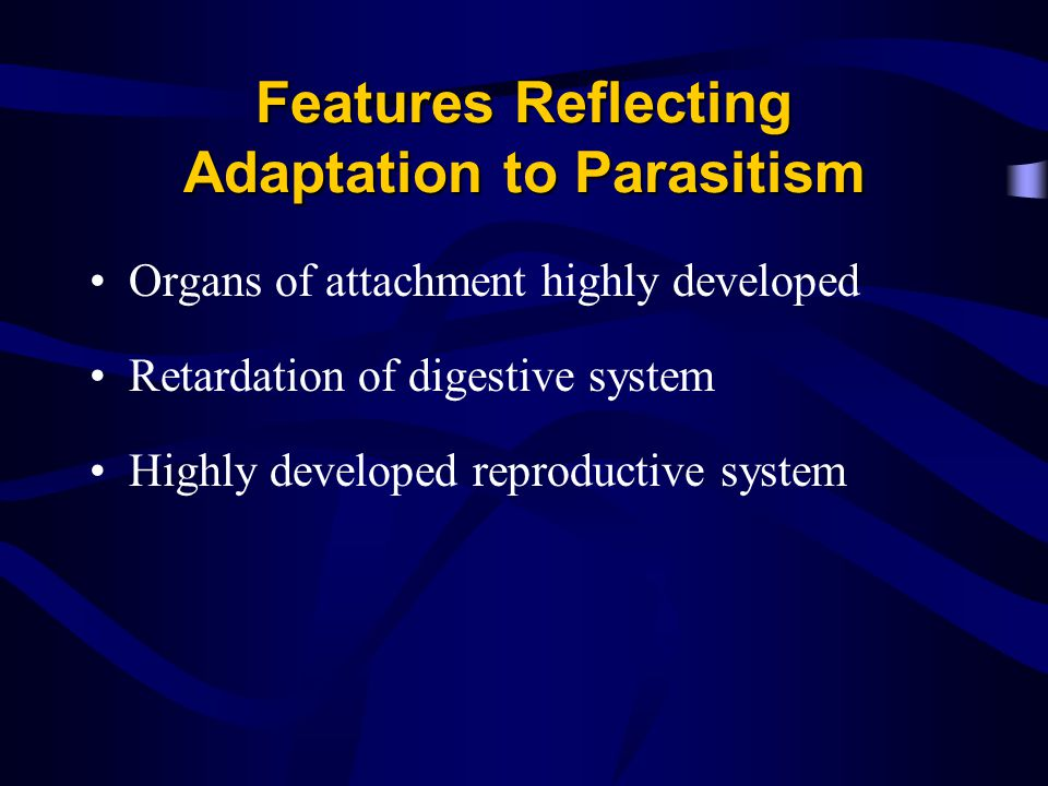 Features Reflecting Adaptation to Parasitism