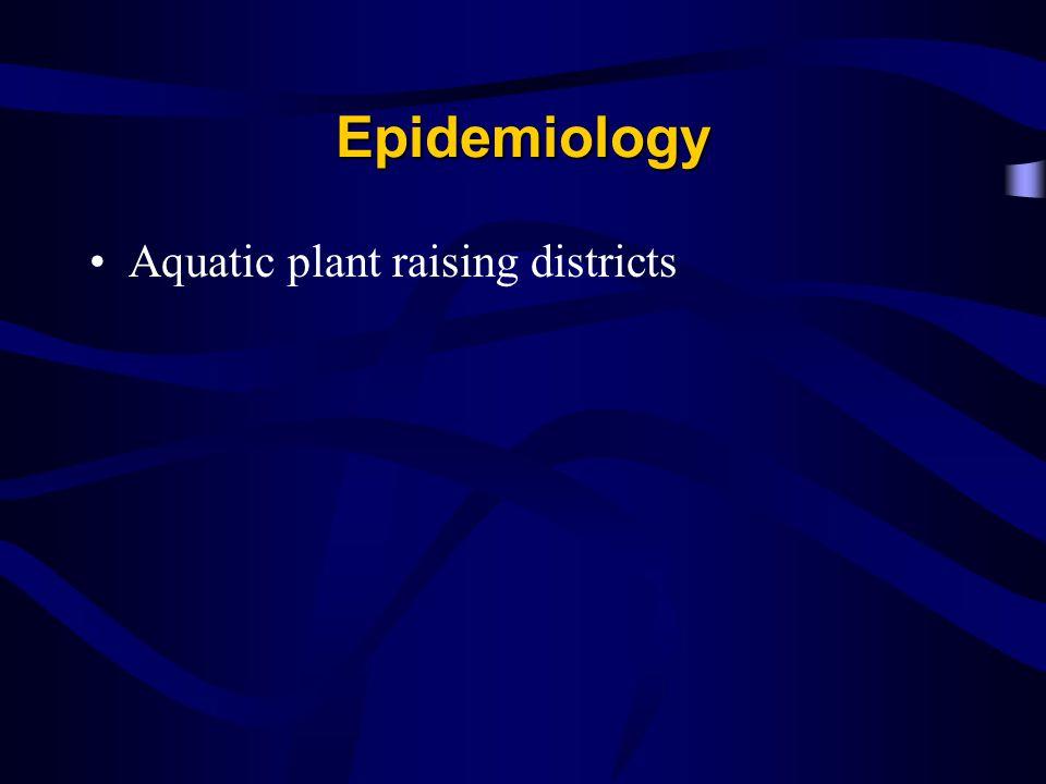 Epidemiology Aquatic plant raising districts