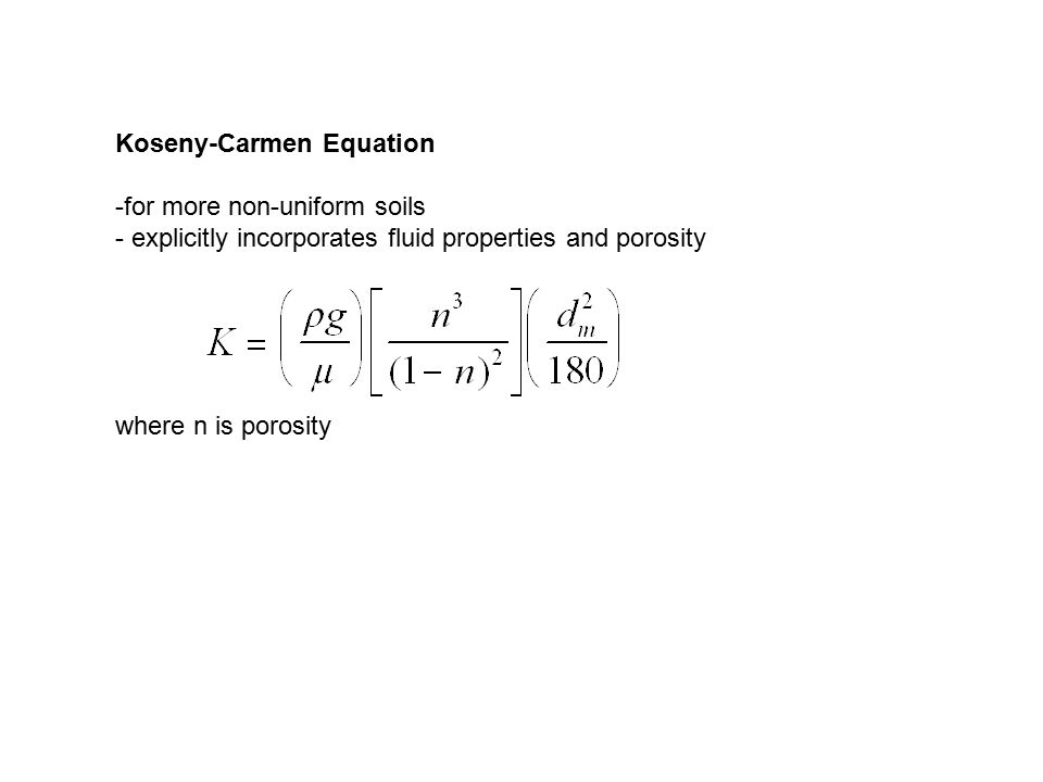 Koseny-Carmen Equation