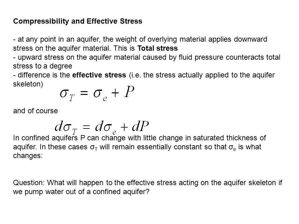 Compressibility and Effective Stress