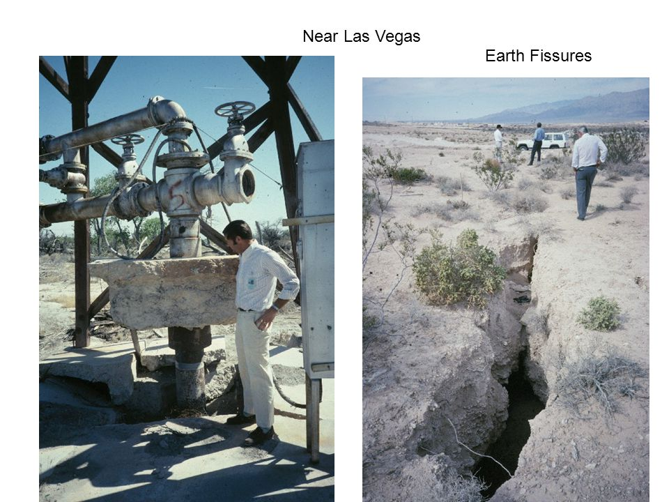 Near Las Vegas Earth Fissures