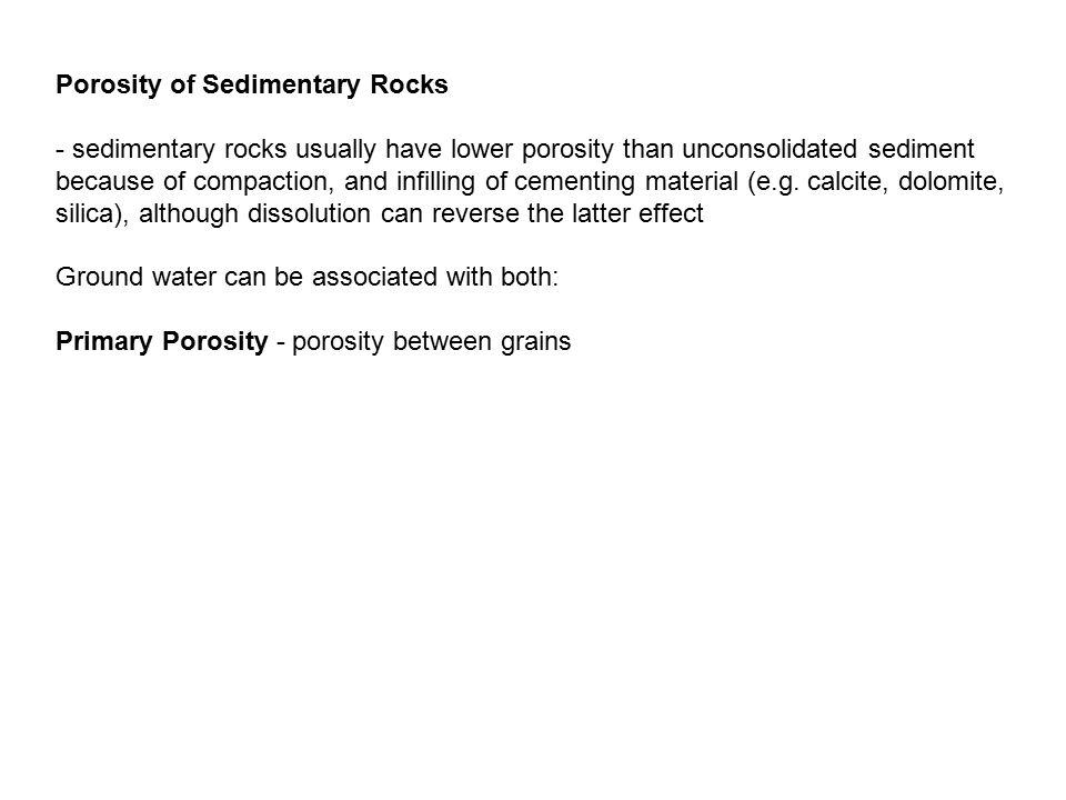 Porosity of Sedimentary Rocks
