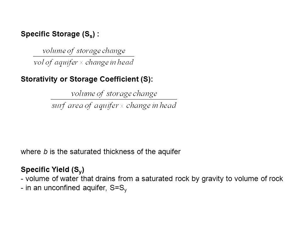 Specific Storage (Ss) :