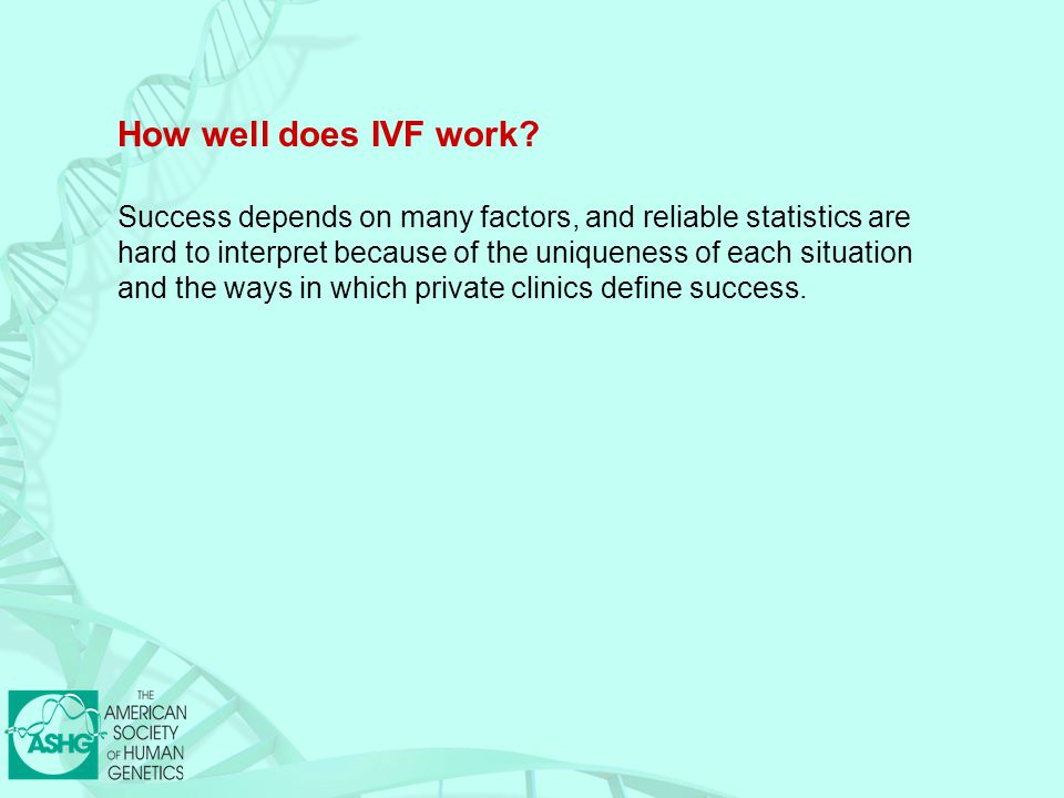 How well does IVF work