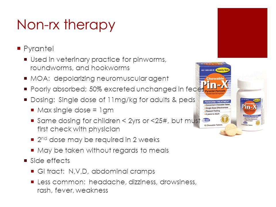 Non-rx therapy Pyrantel