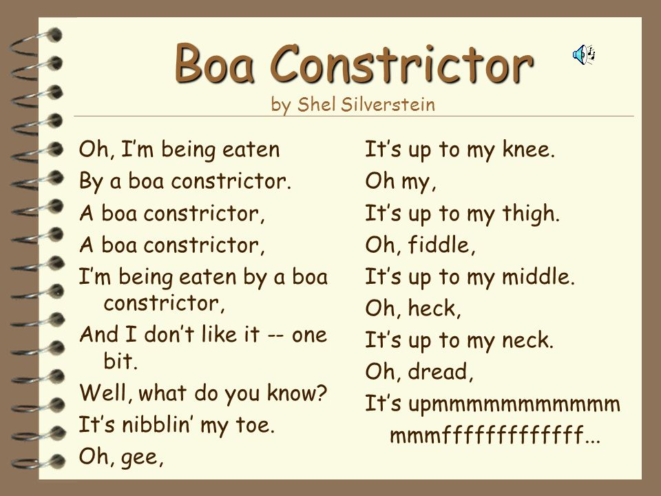 Boa Constrictor by Shel Silverstein
