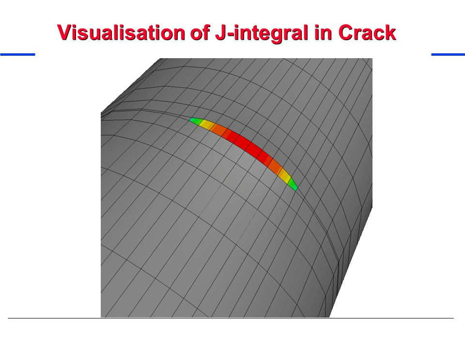 Visualisation of J-integral in Crack