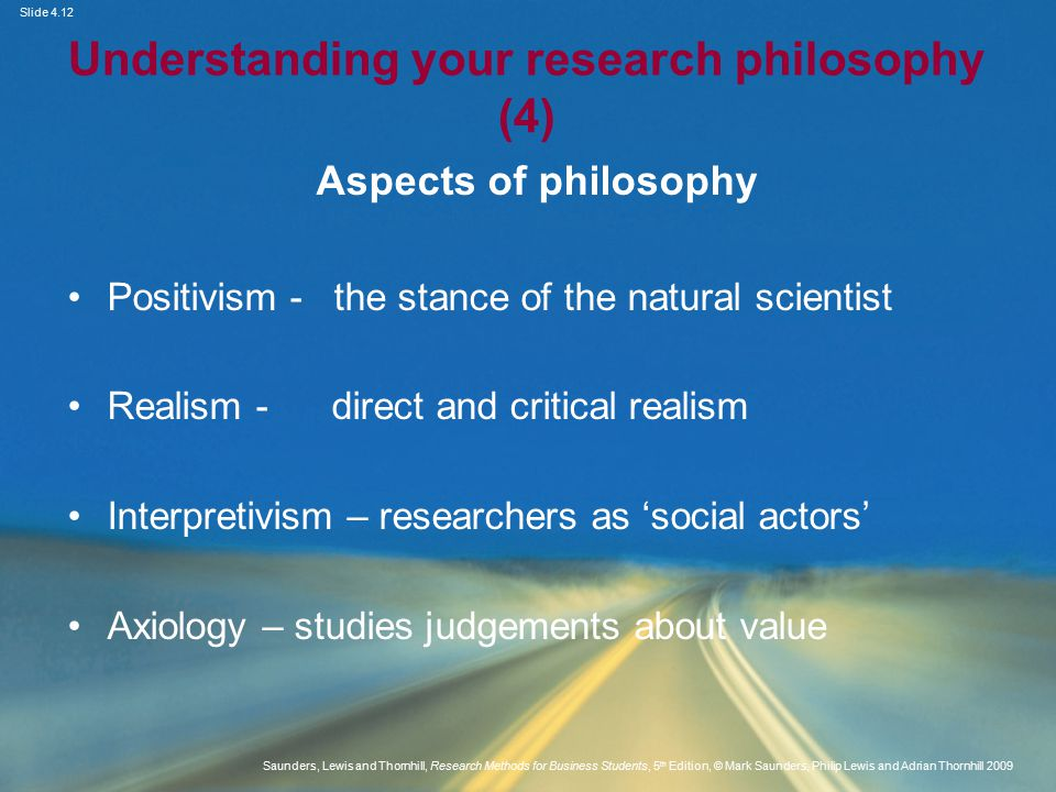 Understanding your research philosophy (4)