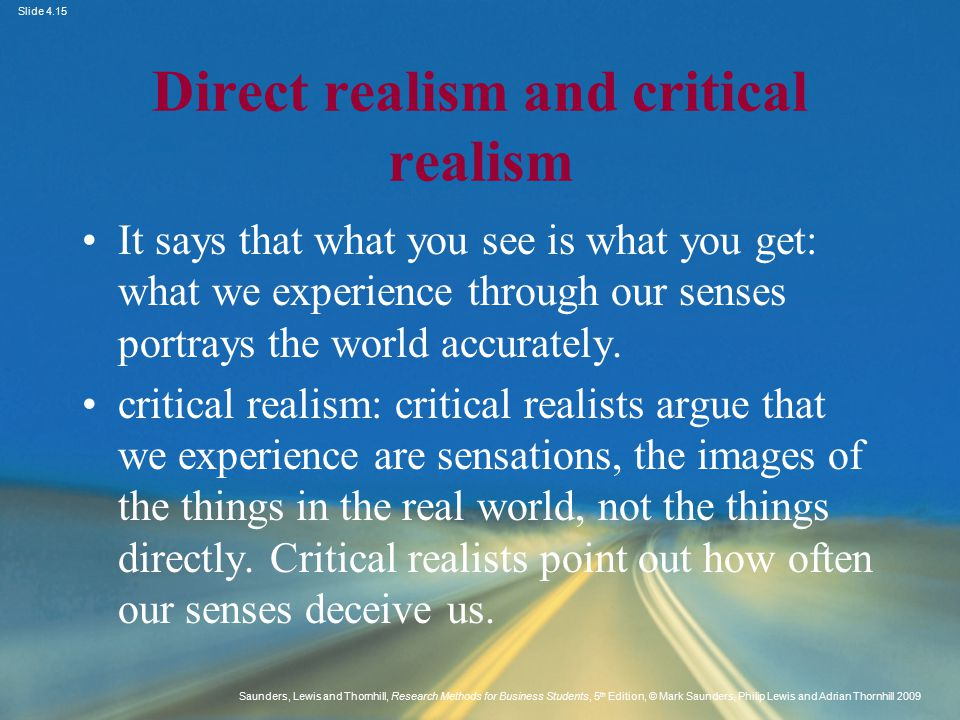 Direct realism and critical realism