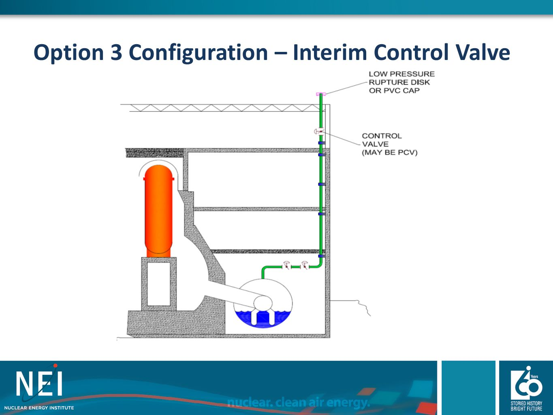 Option 3 Configuration – Interim Control Valve