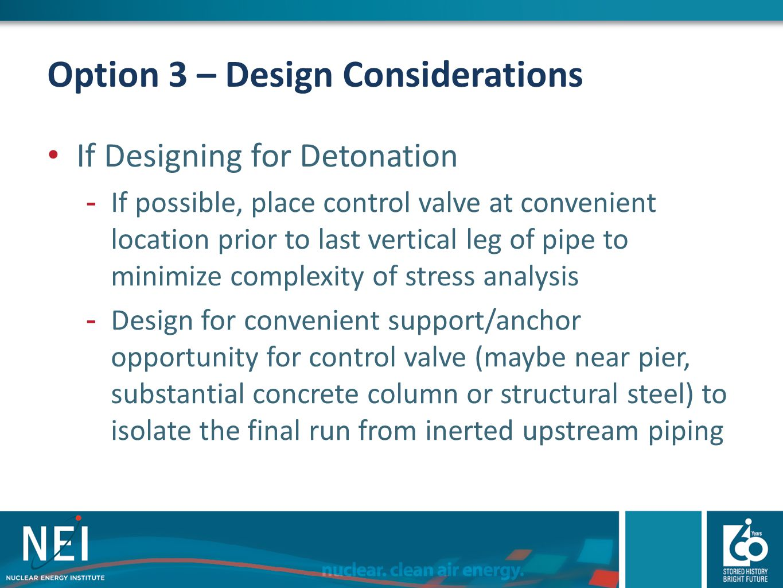 Option 3 – Design Considerations