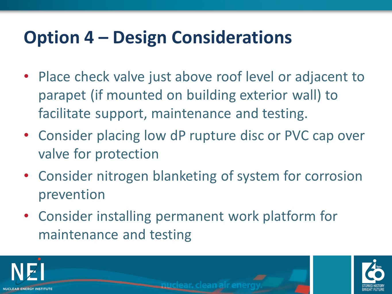 Option 4 – Design Considerations