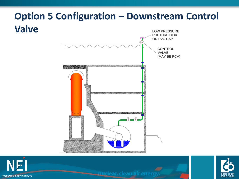 Option 5 Configuration – Downstream Control Valve
