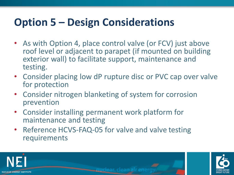 Option 5 – Design Considerations