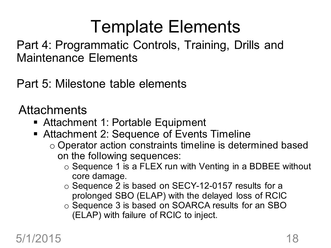 Template Elements Attachments
