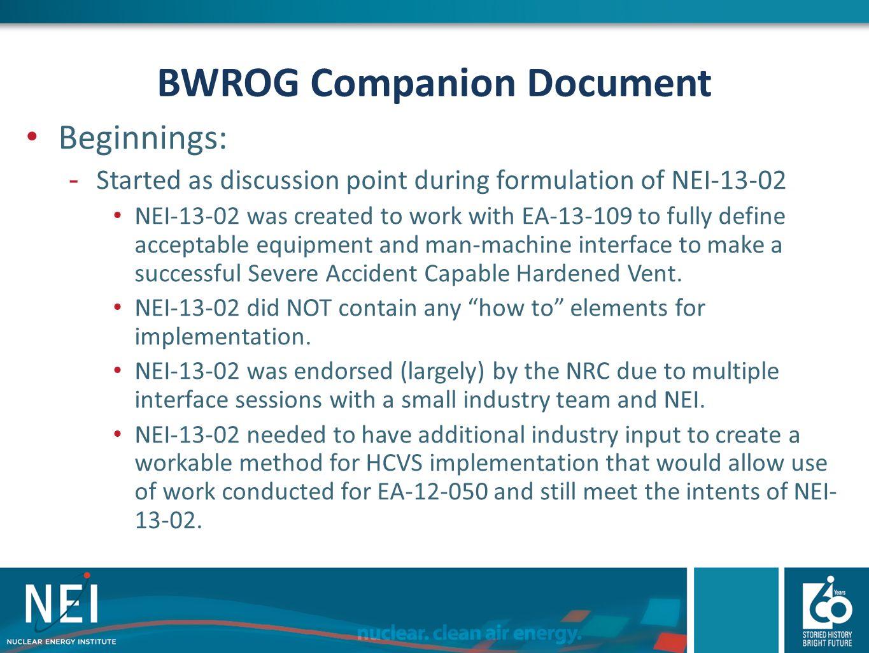 BWROG Companion Document