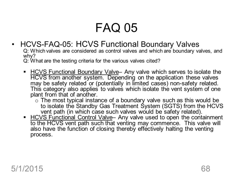 FAQ 05 4/14/2017 HCVS-FAQ-05: HCVS Functional Boundary Valves
