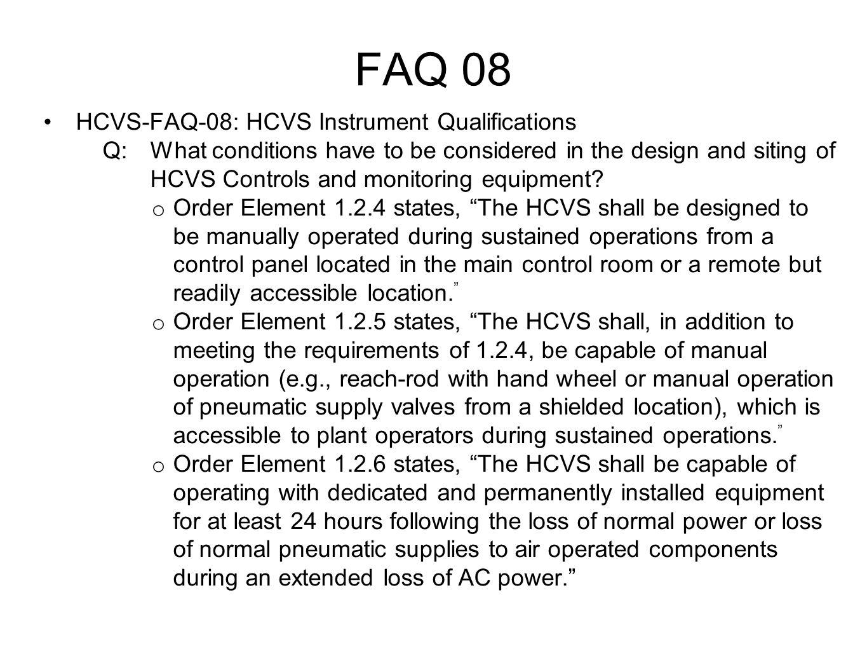 FAQ 08 HCVS-FAQ-08: HCVS Instrument Qualifications