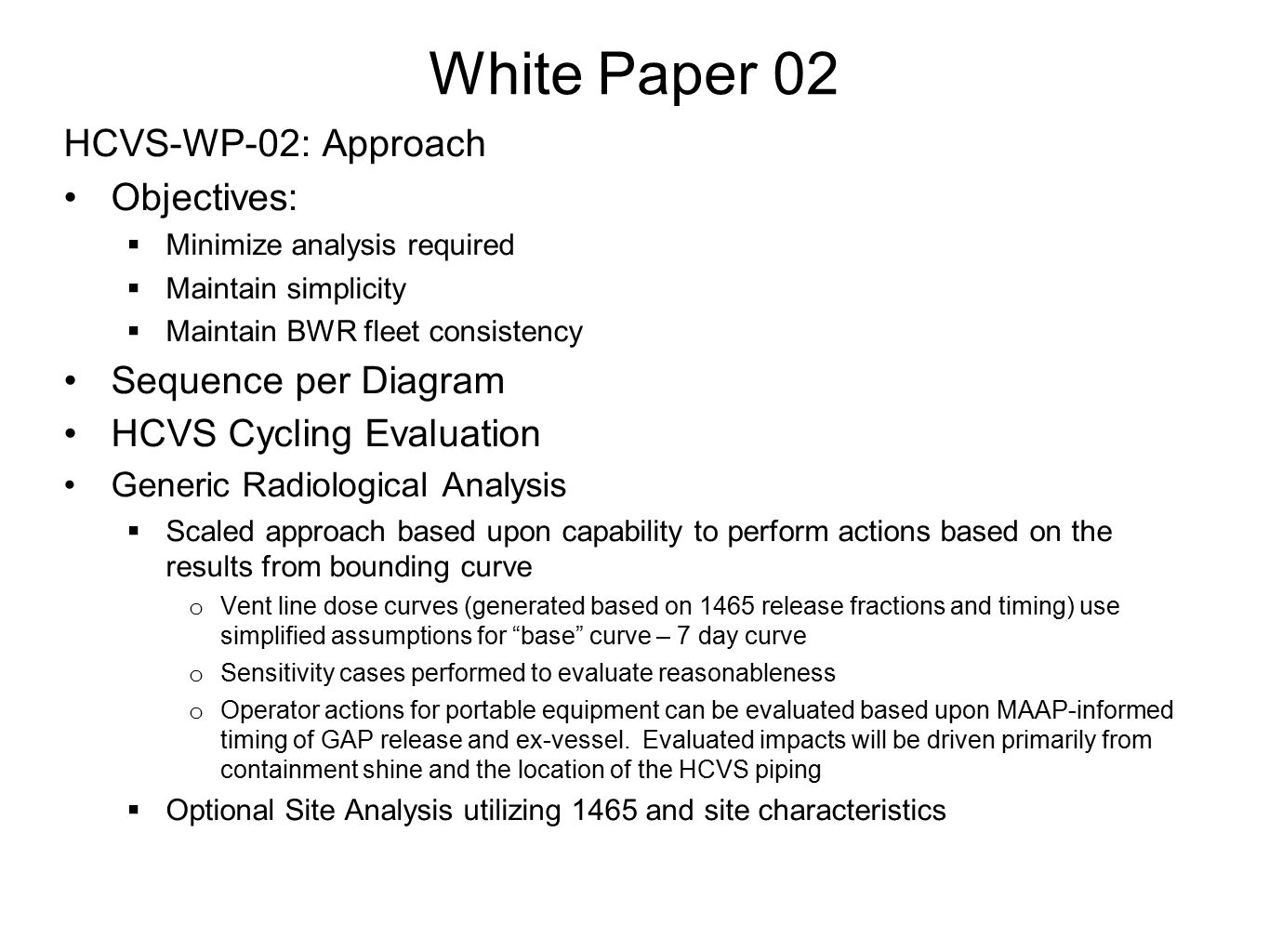 White Paper 02 HCVS-WP-02: Approach Objectives: Sequence per Diagram