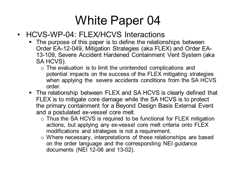 White Paper 04 HCVS-WP-04: FLEX/HCVS Interactions