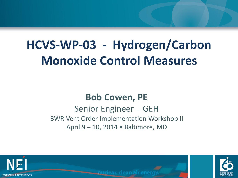 HCVS-WP-03 - Hydrogen/Carbon Monoxide Control Measures