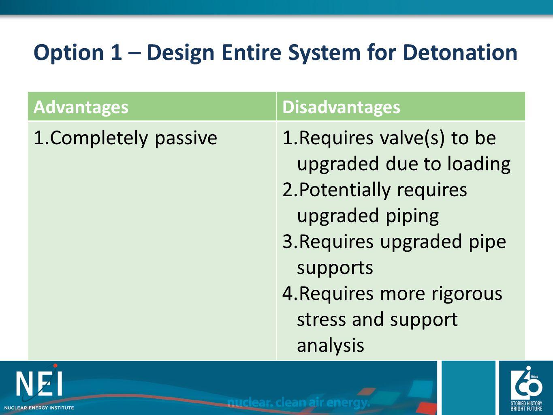 Option 1 – Design Entire System for Detonation