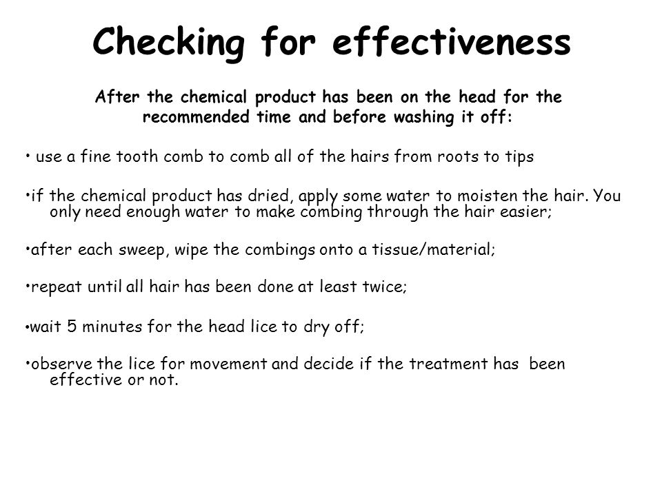 Checking for effectiveness