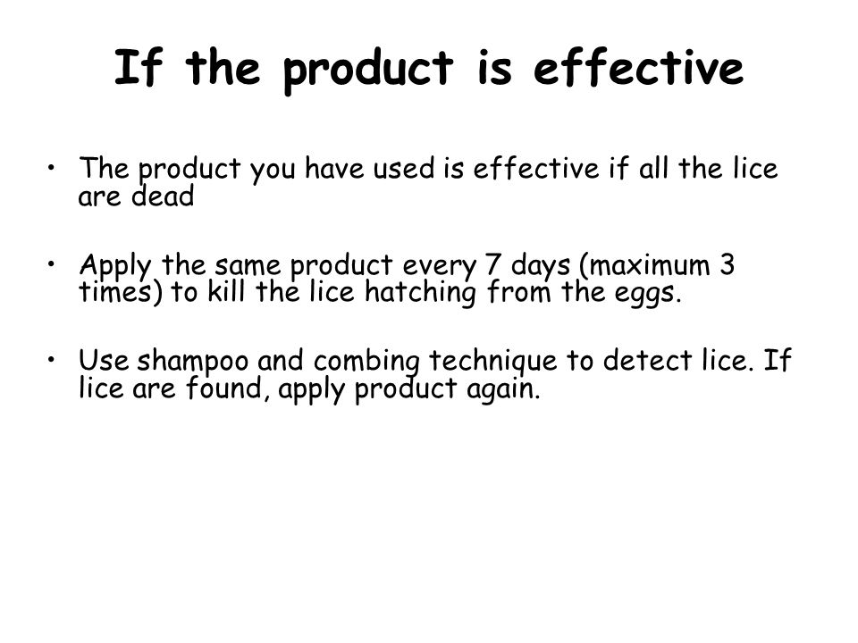 If the product is effective