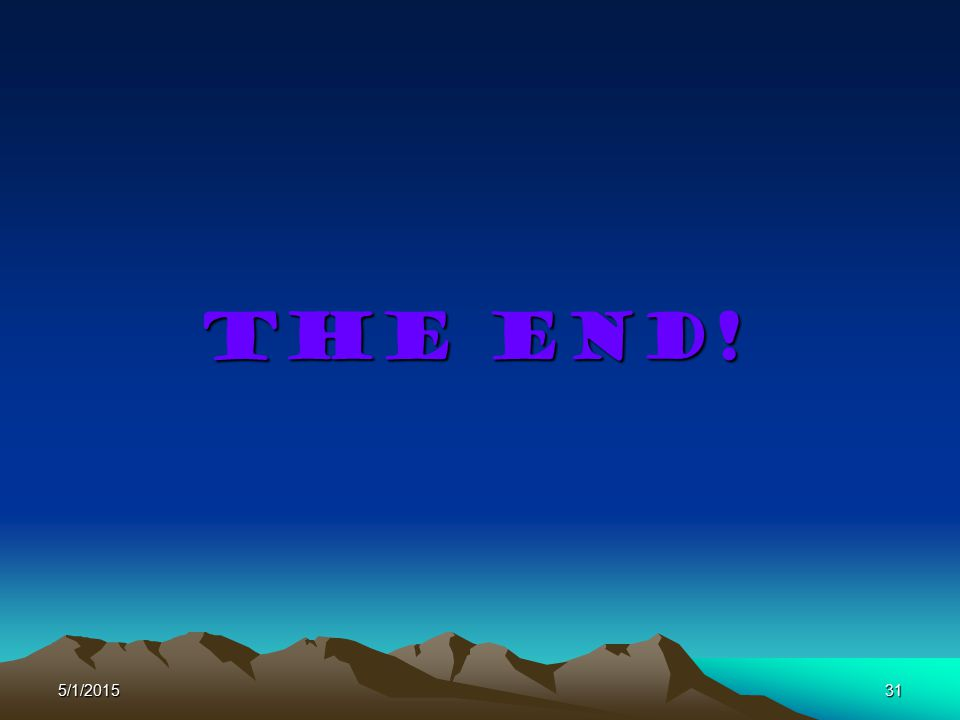 The end! 4/14/2017
