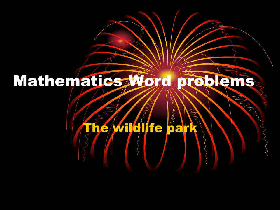 Mathematics Word problems