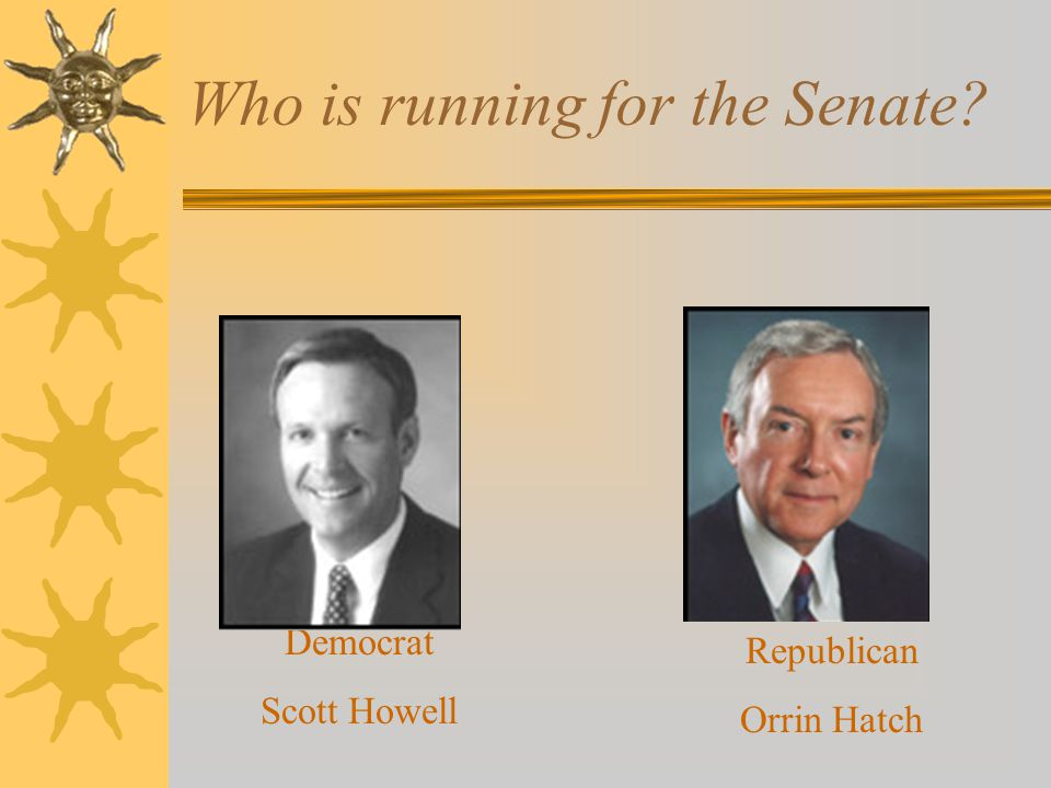 Who is running for the Senate