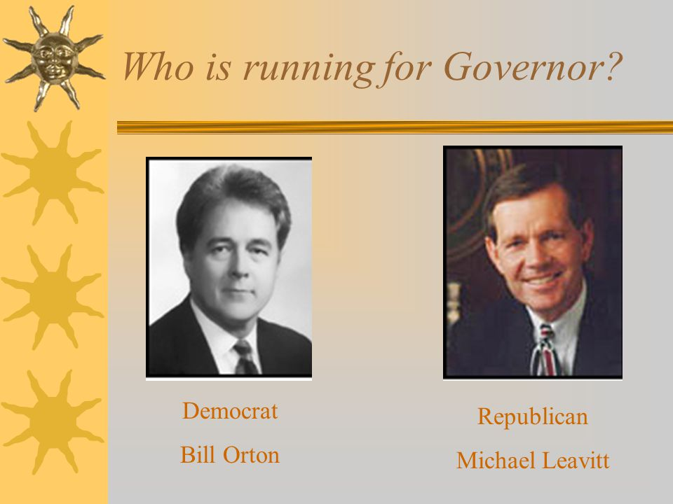 Who is running for Governor