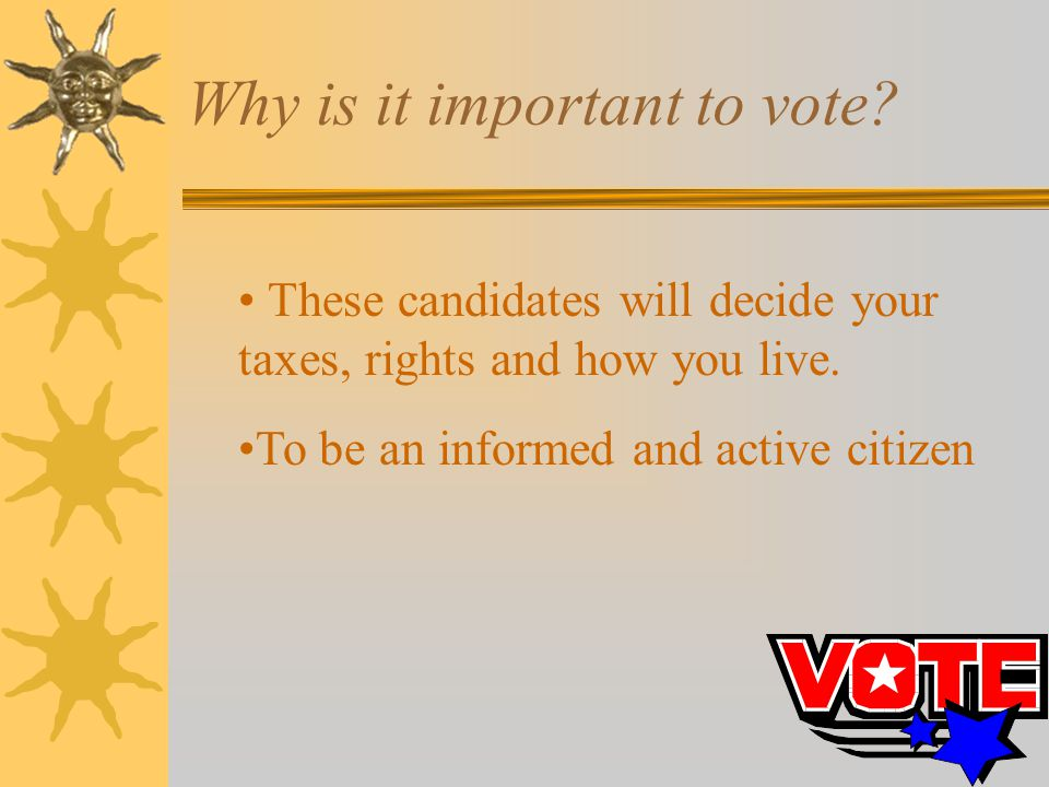 Why is it important to vote