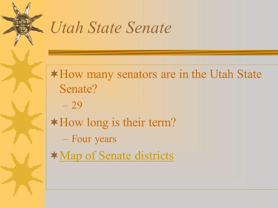 Utah State Senate How many senators are in the Utah State Senate
