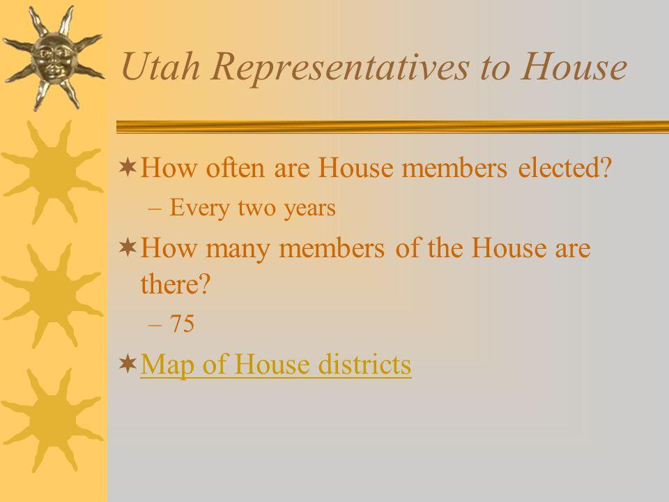 Utah Representatives to House