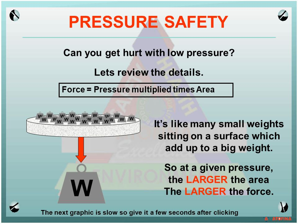 PRESSURE SAFETY Can you get hurt with low pressure