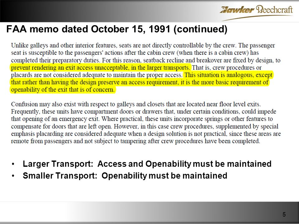 FAA memo dated October 15, 1991 (continued)